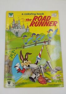 The Road Runner Wile E Coyote coloring book 1981 Whitman unused Warner Bros