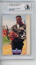 Walter Payton 1991 Pro Line #215 Signed Autographed Card Beckett BAS HOF
