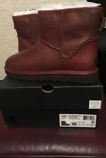 UGG Mens Classic Mini Deco Scotch Grain Boots Cognac Size 8 Euro 42