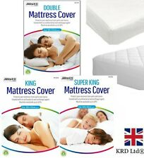 Mattress Protector Fitted Sheet Bed Cover Bedding Topper Waterproof Bedsheet UK