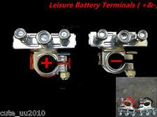 Leisure Battery Terminals Connectors Clamps Car Van Caravan Motorhome Red Black