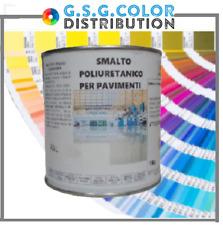 Smalto poliuretanico lucido per pavimenti bicomponente A+B kg 1 + kg 0,500