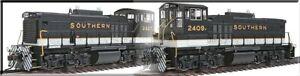 "Atlas HO MP15DC  ""Southern"" Black/Gold/Zebra  Double-Heading #2409 + #2350 2pcs"