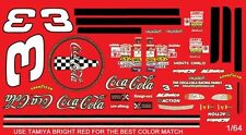 #3 Dale Earnhardt Red Monte Carlo 1998 1/64th HO Scale Slot Car Waterslide Decal