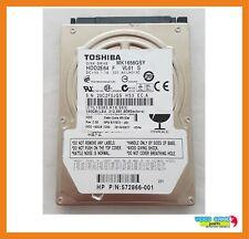 """Disco Duro Toshiba 160GB 7200RPM 2.5"""" Hdd Sata MK1656GSY / HDD2E64"""