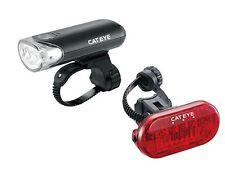 Cateye HL-EL135 + Omni3 Bike Bicycle Front Head + Rear Tail Light Set - Black
