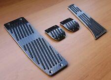 Complete Black Carbon Pedals Set Manual & Footrest for BMW 1 3 5 7 X Z SERIES