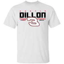 Men's Austin Dillon #3 Racing Nascar 2020 Logo T-shirt For Fan M-3XL