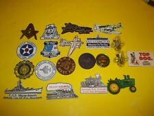 Vintage assorted Military-Aviation-Railroad-Smoky the bear Refrigerator Magnets