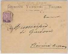 ITALIA REGNO: storia postale - ANNULLO a SBARRE 4436 usato 20 mesi dopo scadenza