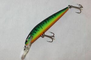 """Nice Vtg BAGLEY Deep BANG O LURE 4"""" Hot Tiger Fishing Lure"""