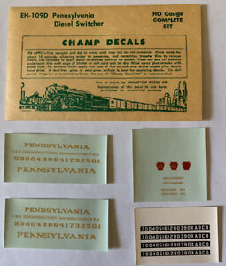 CHAMP HO DECAL - PENNSYLVANIA / PRR DIESEL SWITCHER - DULUX GOLD - EH-109D