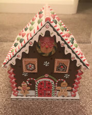 Wooden Gingerbread House Advent Calendar Christmas Decoration 24 Drawers