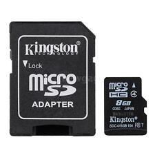 New Kingston 8GB Class 4 MicroSD SDHC SD TF Flash Memory Card 8G ZA7P