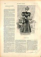 COSTUME ROBE MODE FEMME FRANCE 19 XIX SIÈCLE Printemps MARS 1896 GRAVURE