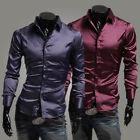 New Fashion Men Luxury Casual Stylish Slim Fit Long Sleeve Casual Dress Shirts s