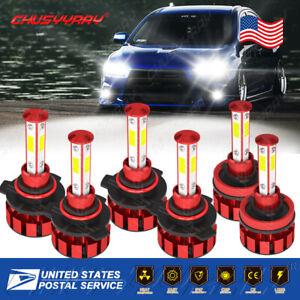 For Mitsubishi Lancer 2008-2015 6x Combo LED Headlight Fog Light Bulbs Kit 6000k