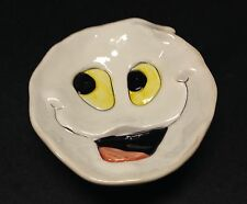 Small Smiling Ghost Face Ceramic Candy Dish Halloween Decoration
