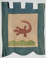 ALLIGATOR tunu RAINFOREST bark cloth CENTRAL American MISKITO indian TRIBE