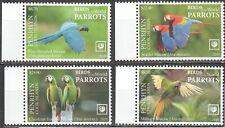 Penrhyn 2019 birds parrots set MNH michel 900-03 95 euro