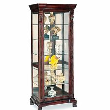 Glass Modern Curio Cabinets EBay - Curio cabinet glass replacement