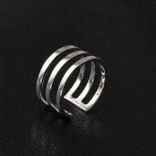 6pcs Design Adjustable Opening Band Thumb Rings Ladies Gift Fashion