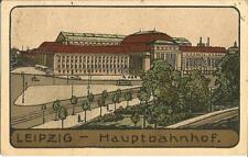 Leipzig, Hauptbahnhof, Bahnhof, Künstler Steinzeichnung von 1918