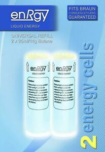 enRgy Gas energy Refills Cells for BRAUN Cordless Stylers Guaranteed.2x25ml/14mg