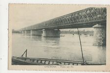 Cremona Ponte sul Po Vintage Postcard Italy 441a