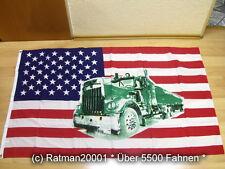 Fahnen Flagge USA mit Truck. - 90 x 150 cm