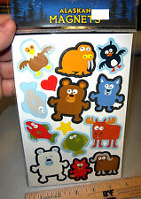 Alaska Beasties Cute Animals Magnets - each can be popped out and put on fridge