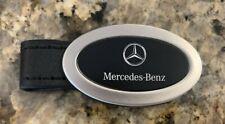 Mercedes-Benz Official OEM Logo KEY CHAIN Black Leather KEYCHAIN Mercedes Benz