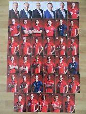 35 Autogrammkarten FC BAYERN MÜNCHEN FCB 16/17 2016/2017 Autogrammkartensatz RAR