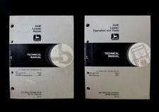 John Deere 244E Loader REPAIR (TM1502) + OPERATION & TESTS (TM1503) Manual Set