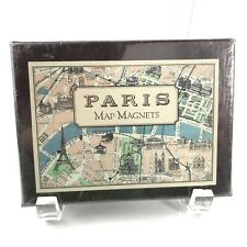 Cavallini and Co Paris Map Magnets Set of 30 Vintage 1920s Paris Map Magnets Nib
