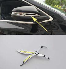 Chrome Side Mirror Cover Trim for 2014-2016 Toyota Highlander Rearview black