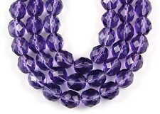 20 Fire Polished Czech Faceted Light Plum Round Loose Craft Glass Beads 8mm