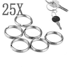 25PSC Metal Key Holder Split Rings Keyring Keychain Keyfob Accessories 15mm
