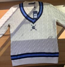 Polo Golf Ralph Lauren Women's Tennis Cricket Sweater Cream Knit  SS 19 Size LRG