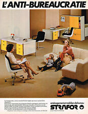 PUBLICITE ADVERTISING 045  1979  STRAFOR  mobilier de bureau 2
