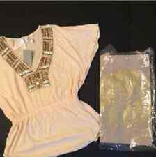 Victoria's Secret MODA INTERNATIONAL Ludi TUNIC shirt+TOTE BAG GOLD embellished