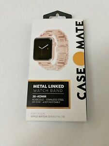 📌 Case-Mate Metal Link Band for Apple Watch 38mm/40mm All Series - Rose Gold/C8