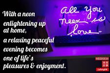 """""""ALL YOU NEED IS LOVE"""" Beer Bar Poster Neon Light Sign POSTCARD By Wikineon"""