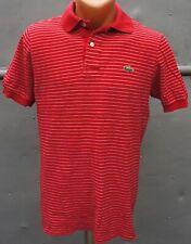Lacoste Polo Shirt talla 3 (m) rojo a rayas vintage camiseta polo
