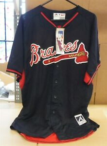 Majestic Authentic Collection Atlanta Braves Jesey 48/48/48 NEVER WORN *222