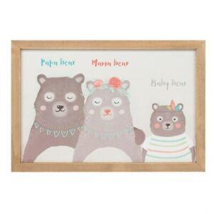 Boho Bear Family Framed Art