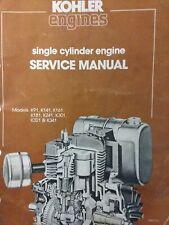 Kohler 1 Cyl K91 K141 K161 K181 K241 K301 K321 K341 Engine Repair Service Manual