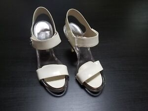 Women's Michael Kors White Patent Leather Heels Size 7.5 M