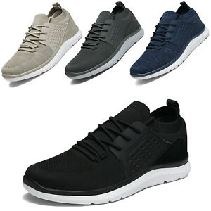 Mens Fashion Sneakers Lace up Knit Comfort Athletic Shoes Size 6.5-13