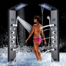 Shower Panel Tower System Column Spa LED Rain Waterfall Head Bathtub Faucet
